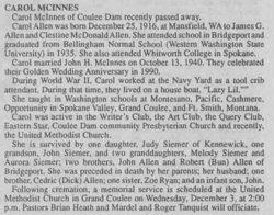 Carol Mavis <i>Allen</i> McInnes