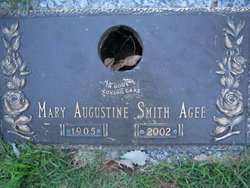Mary Augustine Gustine <i>Smith</i> Agee