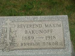Rev Maxim Bakunoff