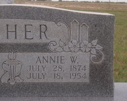 Anna Wilma Annie <i>Parsons</i> Asher