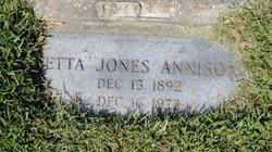 Etta <i>Jones</i> Annison