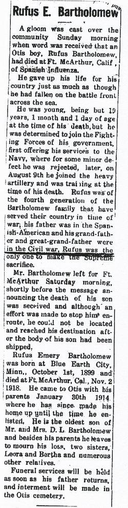 Rufus E. Bartholomew