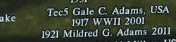 Gale C Adams