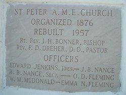 Saint Peters African Methodist Episcopal Cemetery