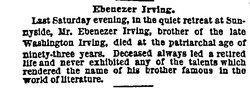 Ebenezer Sanders Irving