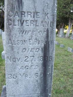 Carrie K <i>Cleveland</i> Barber