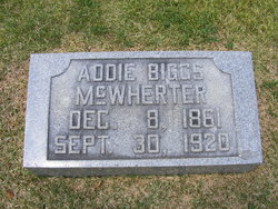 Rebecca Adaline Addie <i>Biggs</i> McWherter