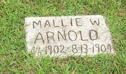 Mallie W Arnold