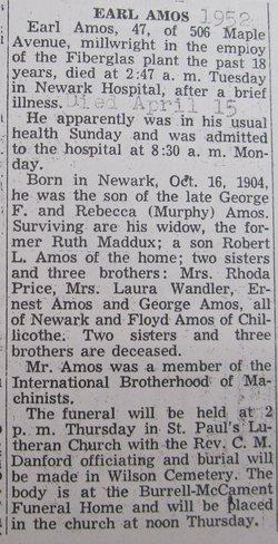 Ernest Earl Amos