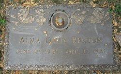 Alma Bernice <i>Davis</i> Benton