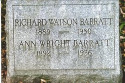 Ann <i>Wright</i> Barratt
