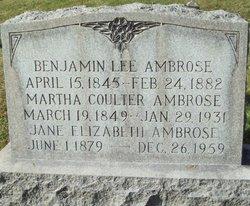 Jane Elizabeth Ambrose