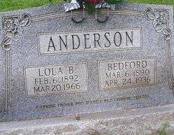 Lola Betty <i>Loftis</i> Anderson