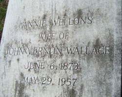 Annie Tryphoena <i>Wellons</i> Wallace