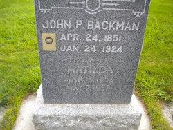 John (Johan) Peter Backman