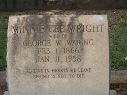 Minnie Lee <i>Wright</i> Waring
