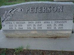 Anna Louisa <i>Johanson</i> Peterson