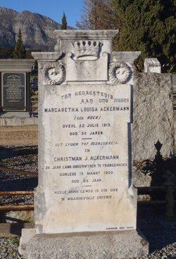 Margaretha Lousia <i>Hugo</i> Ackermann