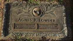 Agnes Mallie <i>Russell</i> Lowder