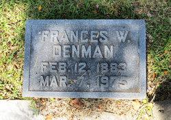 Frances <i>Wootters</i> Denman