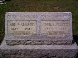 Jennie B <i>Cornelius</i> Atherton