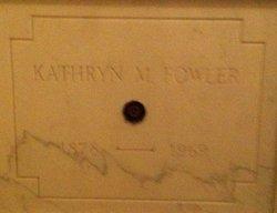 Kathryn M Fowler
