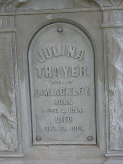 Julina <i>Thayer</i> Ackley