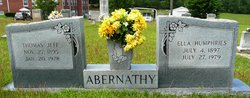 Ella <i>Humphries</i> Abernathy