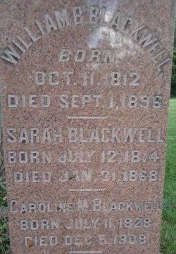 Caroline M. Carrie <i>Davis</i> Blackwell
