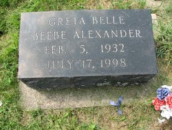 Greta Belle <i>Beebe</i> Alexander