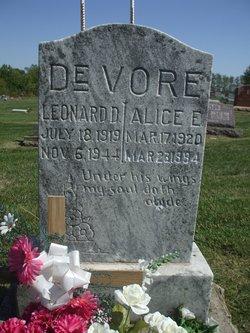 Alice E. <i>Myers</i> DeVore