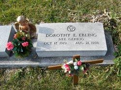 Dorothy E. <i>Gehrig</i> Ebling