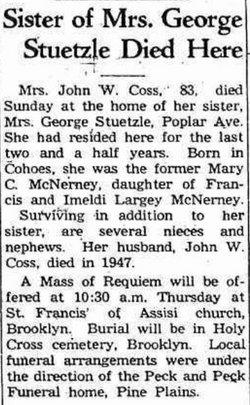 Mary C. <i>McNerney</i> Coss