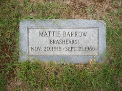 Mattie <i>Brashears</i> Barrow