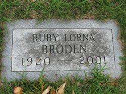 Ruby Lorna <i>Bangen</i> Broden