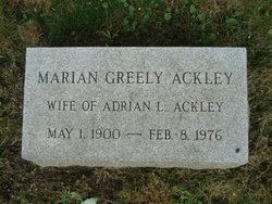 Marian <i>Greely</i> Ackley