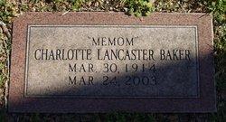 Charlotte <i>Lancaster</i> Baker