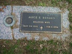 Alice E Benden