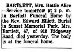 Hattie Alice <i>Skidmore</i> Bartlett