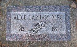 Alice <i>Lapham</i> Berg