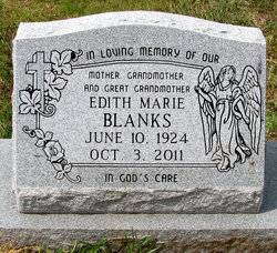 Edith Marie Wood <i>Conner</i> Blanks