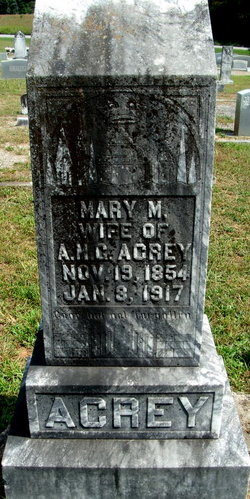 Mary M. <i>Acrey</i> Acrey