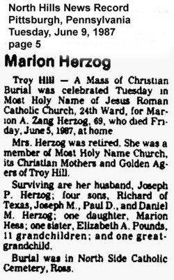 Marion A. <i>Zang</i> Herzog