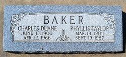 Phyllis Irene Gwendalyn <i>Taylor</i> Baker
