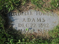 Idabelle <i>Towsley</i> Adams