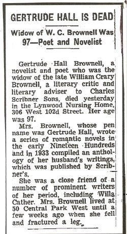 Gertrude Anna <i>Hall</i> Brownell