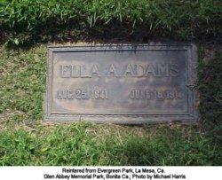 Ella A <i>Atherton</i> Adams
