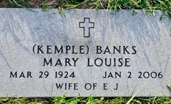 Mary Louise <i>Kemple</i> Banks