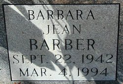 Barbara Jean <i>Curtis</i> Barber