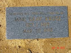 Frances Jane Miss Jane <i>Gray</i> Krutz